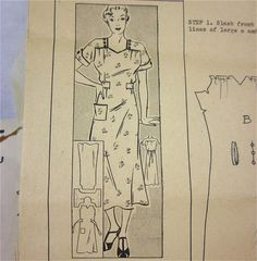 Vintage 1920's Dress Sewing Pattern Mail by OldFashionedNotions, $45.00