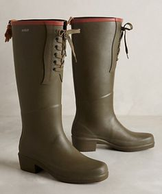 olive green wellies  #anthrofave http://rstyle.me/n/pp32apdpe