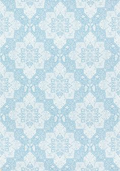 Tarragon #fabric in #aqua from the Caravan collection. #Thibaut
