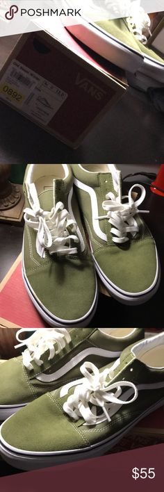 19980a1170 Shop Men s Vans Green White size 12 Athletic Shoes at a discounted price at  Poshmark. Description  OLD SCHOOL (GREEN).