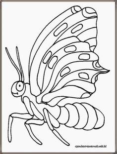 lembar mewarnai gambar kupu-kupu
