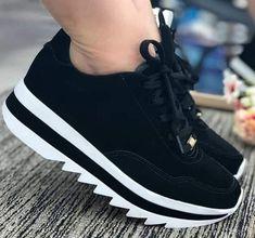 Tênis Feminino Esportivo Plataforma Vizzano Nobuck 1319100 preto - Tênis Feminino Esportivo Plataforma Vizzano Nobuck 1319100 preto Estás en el lugar correcto para s - Sock Shoes, Kid Shoes, Girls Shoes, Me Too Shoes, Shoe Boots, Fashion Boots, Sneakers Fashion, Shoes Sneakers, Hype Shoes