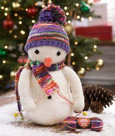 Knitting Patterns Galore - Knitting Snowman