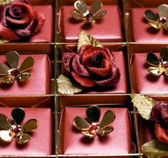 Swarovski-studded Chocolates  Launched by Harrods, these luxury chocolates are packed by Lebanese chocolatier Patchi. Hand wrapped in Indian silk and topped with Swarowski crystal flowers or a delicate silk rose, Patchi presents each piece on suede leather with gold and platinum linings. The chocolate box has a price tag of $10,000.