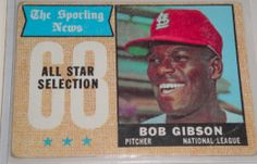 I will sell my 1968 Bob Gibson topps for $8.00