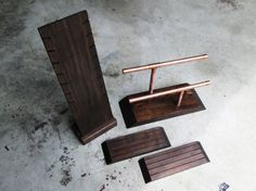 Wooden Display Stand Set // Industrial Wooden by TheBradfordEdge