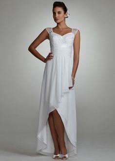 Nice hi low wedding dresses with sleeves dry clean wedding dresses bridal gowns