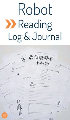 Robot Reading Log - Create in the Chaos Reading Logs, Kids Reading, Printable Crafts, Printables, Reading Log Printable, Good Books, Books To Read, Reading Tracker, Reluctant Readers