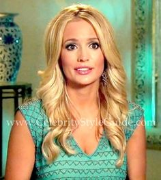 Bachelorette Style & Fashion: Emily Maynard wore the turquoise Gryphon Tulum Beaded Silk Top on the Bermuda episode of the Bachelorette