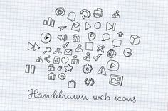 Handdrawn web icons by Bluepixel on Creative Market