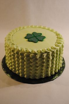 St. Patrick's Day Cake-Buttercream texture