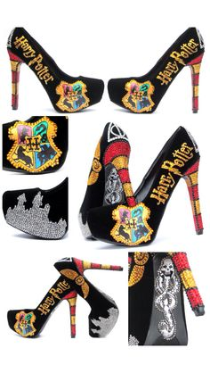 I'm so excited to say I'm the owners of these bad boys. The Johnson sisters on etsy (shop name wicked addiction) made these custom heels for me! High heels and Harry Potter... What more could a girl want?