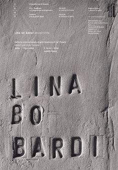 debossed concrete typography.