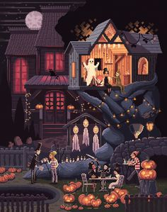 "pixelshuh: "" Scene #35: 'Pumpkins' Happy (soon to be) Halloween everyone!! :) www.pixelshuh.com "" In case you forgot, Octavi Navarro a.k.a. @pixelshuh is still making new scenes. Read more about..."