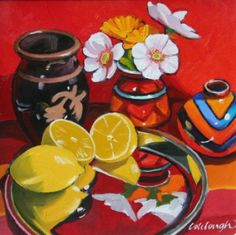 L - lemons   Scottish Artist Frank COLCLOUGH - Reflected Images
