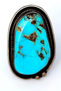 Turquoise Ring Sterling Silver Southwestern by Yourgreatfinds