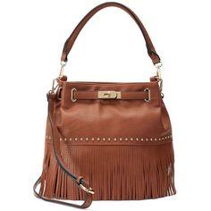 Mellow World Lorraine Fringe Bucket Bag ($89) ❤ liked on Polyvore featuring bags, handbags, shoulder bags, brown, man bag, brown bucket bag, brown purse, purse shoulder bag and boho purses