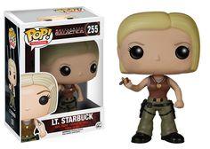 Cabezón Teniente Starbuck 9 cm. Battlestar Galactica. Línea POP! Television. Funko