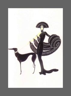 Illustration by Erte from 1985