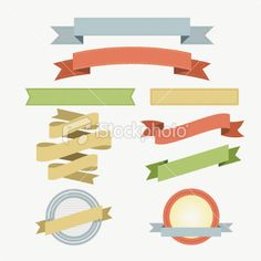 Retro Banners Royalty Free Stock Vector Art Illustration