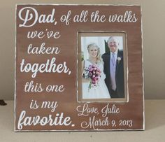My Dad would LOVE this gift on my wedding day! Of all the walks we've taken together, this one is my favorite. Found at Love on Etsy.