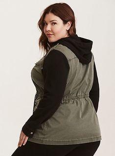 Mixed Fabric Anorak Jacket, DEEP DEPTHS, alternate