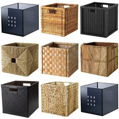 Ikea Baskets Dimensioned To Fit EXPEDIT Shelving Unit. Dimensioned to fit…