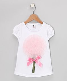Take a look at this White & Light Pink Bouquet Tee - Toddler & Girls by 2 Crystal Chicks on #zulily today!
