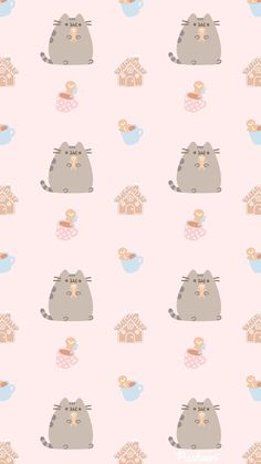 Iphone Wallpaper Queen, Chibi Wallpaper, Kawaii Wallpaper, Pusheen Christmas, Pusheen Cute, Cat Background, Nyan Cat, Holiday Wallpaper, Wallpaper Pictures