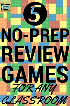Using games in the classroom is a sure way to engage your students in learning! Check out these amazing ideas for No-Prep Review Games for Any Classroom!