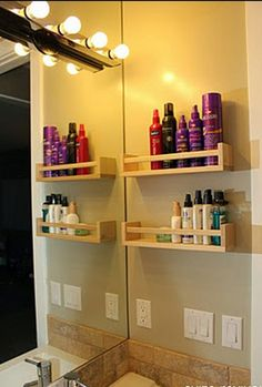 Great idea! Use spice racks for use in bathrooms with little counter space and NO medicine cabinets. The loan lawyer is a concept created to take control of the real estate transactions from the contract to closing to represent buyers and sellers from start to finish. it has worked ! we have helped thousands of people buy and sell many of their homes. theloanlawyer.com #RealEstate #Theloanlawyer #Home #buyer #Mortgage