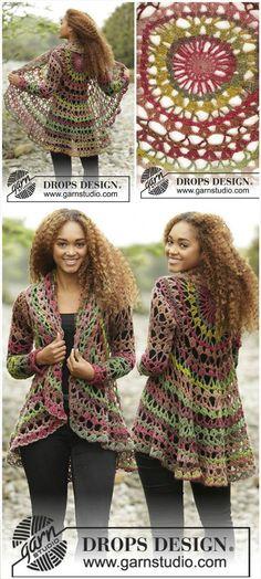 Crochet Fall Forest Sweater Jacket - 12 Free Crochet Patterns for Circular Vest Jacket | 101 Crochet