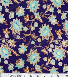 Famous Maker Floral Knit Purple Polyester Fabric