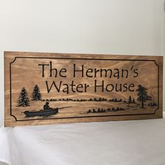 Wooden carve lake house decor personalized signs great gift ideas !