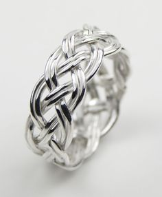 Sterling Silver Open Woven Ring Claddagh engagement ring. this as the wedding band