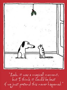 funny-cat-cartoon-cat-dog-chrstmas-mistletoe-cartoon