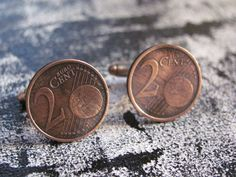 #Cufflinks  Vintage Coin 2 cent Handmade.  The item is processed within 2-3 days after payment.This product is sent by airmail (Eco-post Israel) 7-15-18 workings days. Exclu... #cufflinks