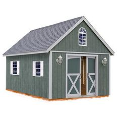 Best Barns Brentwood Without Floor Gable Engineered Wood Storage Shed (Common: 12-ft x 16-ft; Interior Dimensions: 11.42-ft x 15.17-ft)