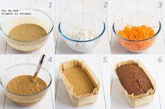 Receta de pastel de zanahorias y nueces paso a paso