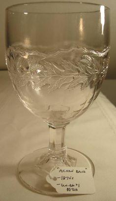 Acorn pressed glass goblet
