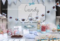 mesas de chuches - Buscar con Google Event Planning, Candy, Bar, Desserts, Google, Decor, Candy Stations, Setting Table, Tailgate Desserts