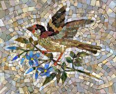 Мозаика Птичка на ветке