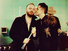 Brandon Flowers and Will Champion.