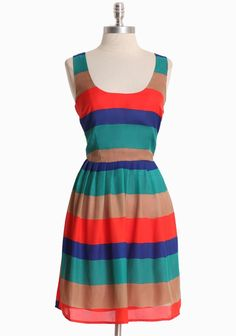 "Bright Eyes Striped Dress By BB Dakota 57.99 at shopruche.com. We adore the classic silhouette of this vibrantly striped dress by BB Dakota. This flattering style is perfected with a silky finish, delicate pleats at the waist, a hidden side zipper, and surplice back. Fully lined.  100% Polyester, Imported, 36"" length from top of shoulders"