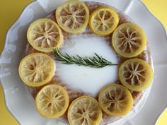 lemon rosemary olive oil cake with candied lemons Unique Wedding Cakes, Wedding Desserts, Pistachio Butter, Orange Sanguine, Baked Oatmeal Cups, Candied Lemons, Lemon Recipes, Cake Recipes, Baking Recipes