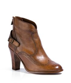 Belstaff - The Agnes Antique Cuero Slim Lady Ankle Boots - yourfashion.co