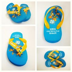 Our #WorldCup Kid's Flip Flops featuring Fuleco, the official mascot of the 2014 Wolrd Cup! worldcup2014  #fuleco #kids #futbol #football #soccer #brazil #brasil #yellow #blue #fashion #style #sandal #kidsfashion #instagood #myteamface #follow #fun #fan #picstitch