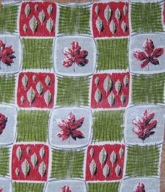 via Etsy. 1950s Wallpaper, Pattern Wallpaper, Textile Design, Fabric Design, Fabric Patterns, Fabrics, Mid Century, Textiles, Quilts