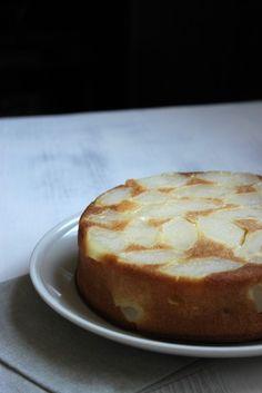 Gâteau au lait de soja à la vanille et aux poires {test farine sans gluten Marque Repère}
