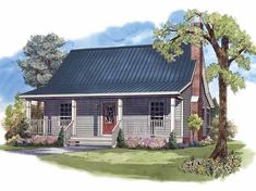 Ranch House Plan with 950 Square Feet and 2 Bedrooms(s) from Dream Home Source   House Plan Code DHSW62710